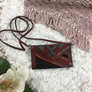 Vintage Kilim Wool Envelope Clutch Crossbody Purse